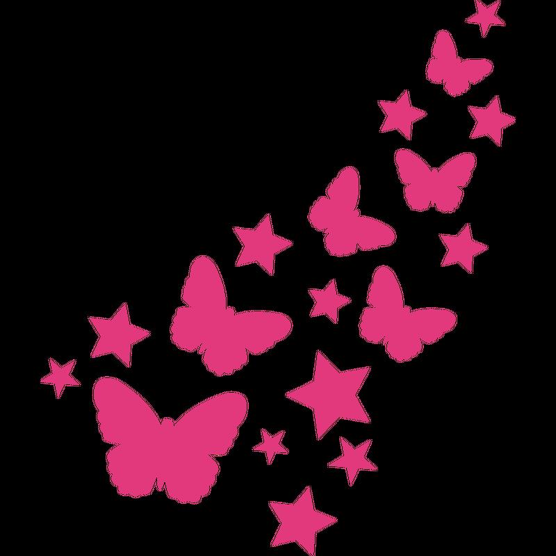 Schmetterlinge Sterne
