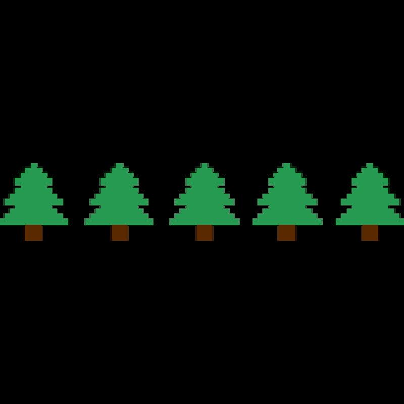 Weihnachstbäume Pixel
