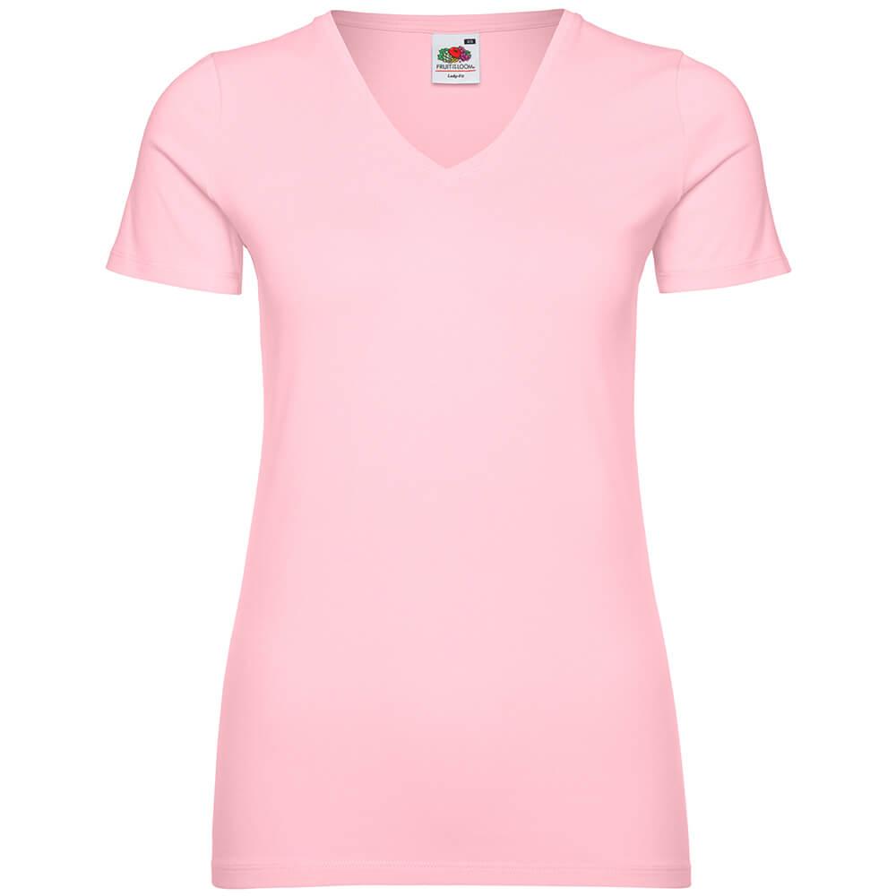 Frauen V-Ausschnitt T-Shirt Valueweight