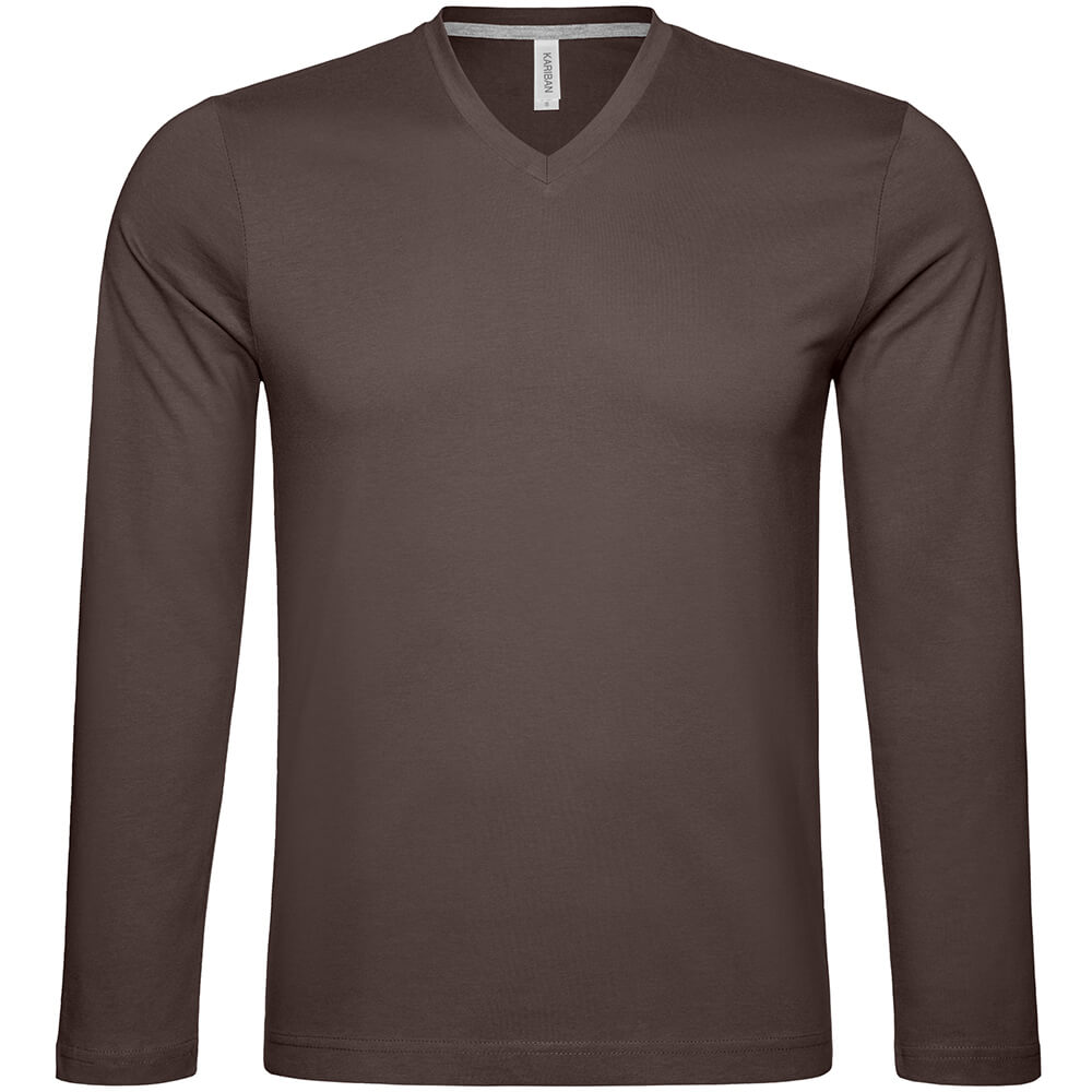 Männer V-Ausschnitt Langarmshirt